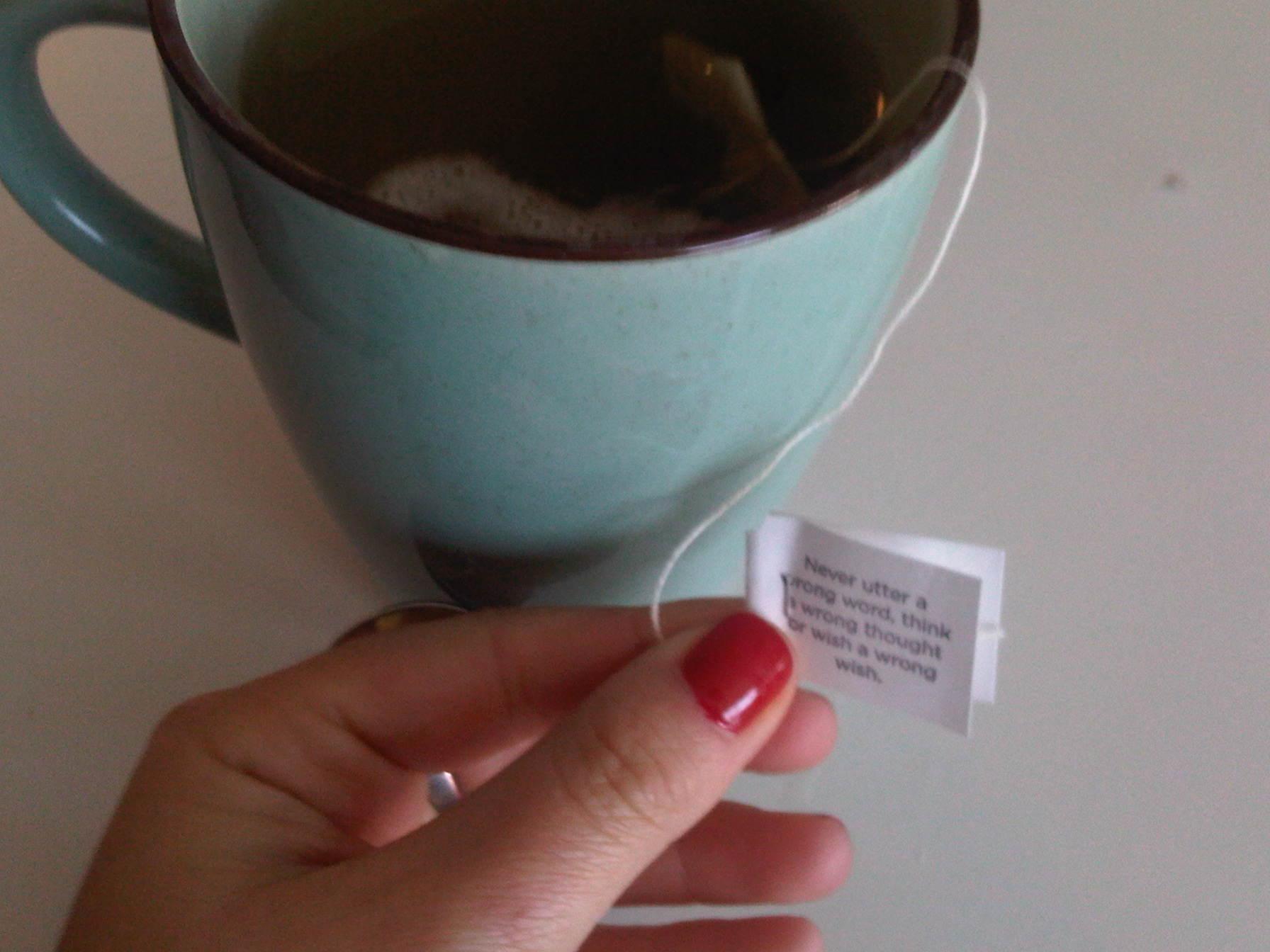 Yogi Tea Bag Quote